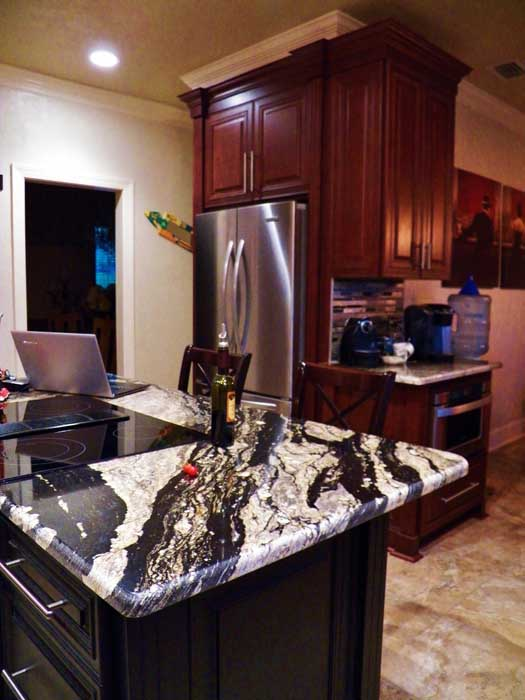 Tallahassee Kitchen Remodeling - Picture of Island and Coffee Station Area