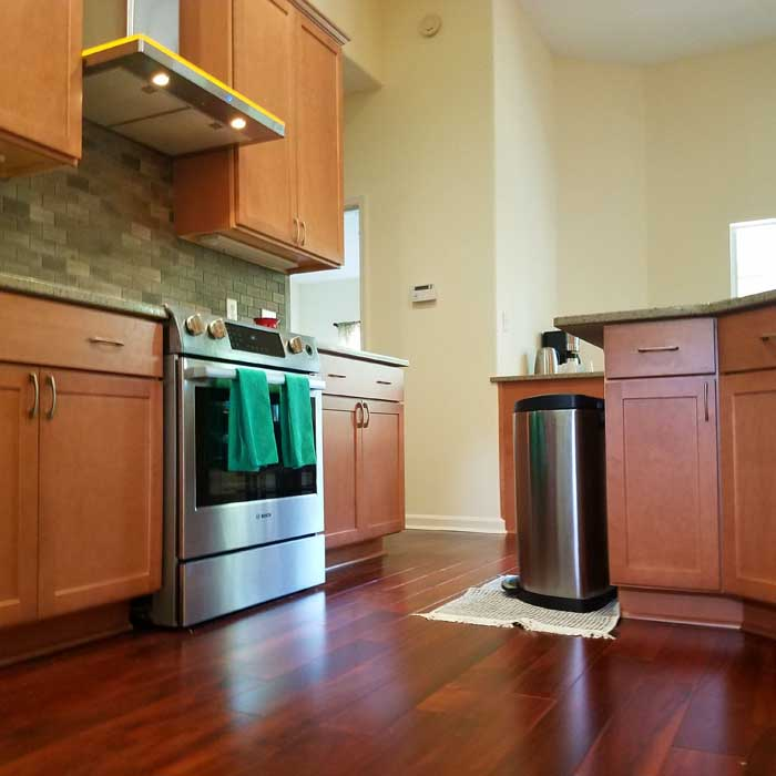Tallahassee Kitchen Remodel - New Wood Floors and Cabinets