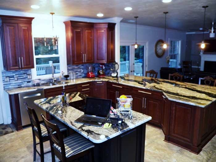Tallahassee Kitchen Remodeling -  Wall removal Looking Towards Living Room