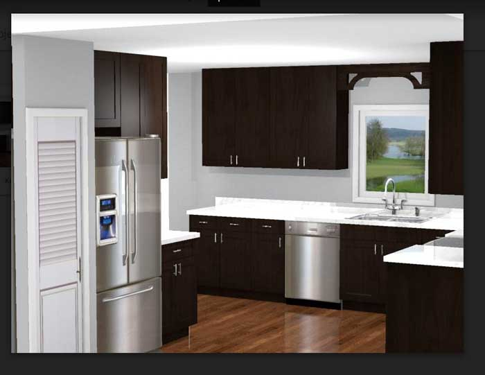 Tallahassee Kitchen Remodeling -  3D Renderings