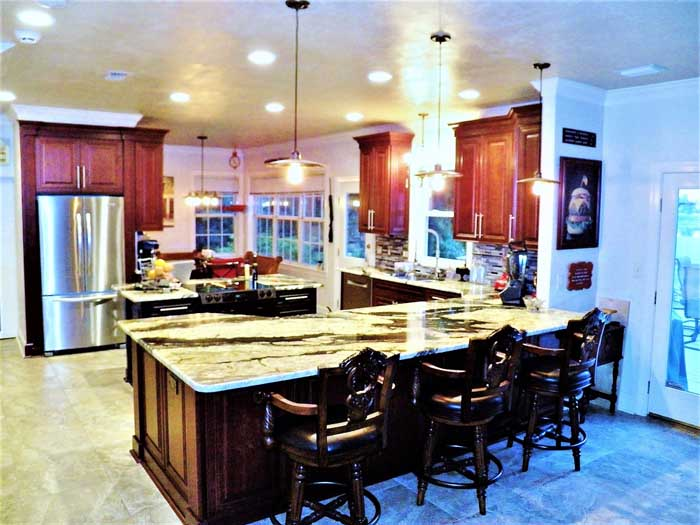 Tallahassee Kitchen Remodeling -  Kitchen and Living Room Wall Was Removed