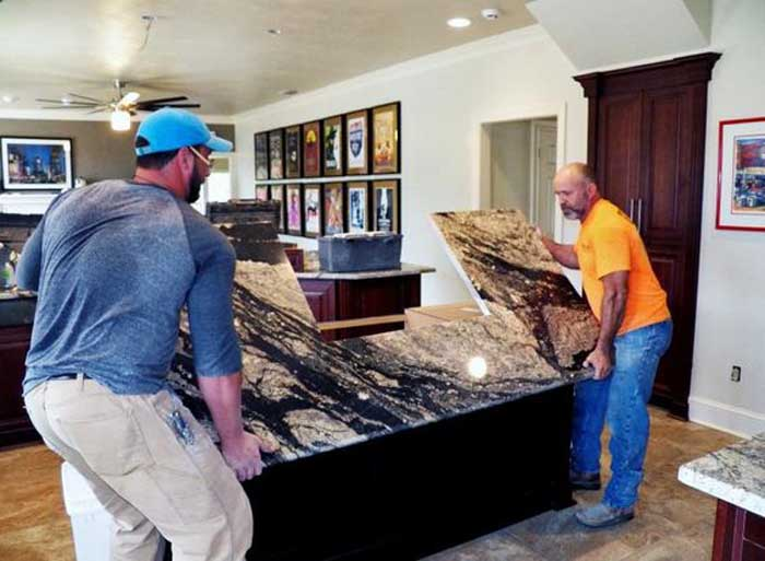 Tallahassee Kitchen Remodeling -  Granite counter install